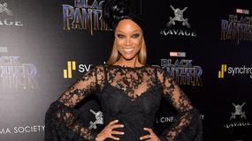 "Tyra Banks na premierze filmu ""Czarna Pantera"""
