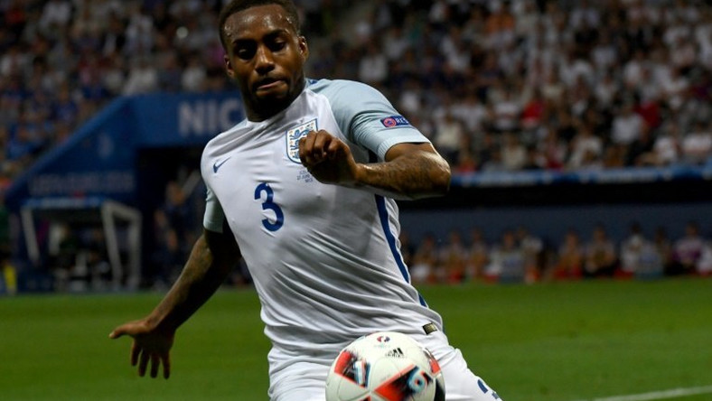 England's defender Danny Rose plays during Euro 2016 match between England and Iceland at the Allianz Riviera stadium in Nice on June 27, 2016