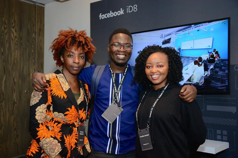 Facebook iD8 Nairobi: Gerti Sheshe, Mbuyu Makayi,Carol Kariuki. (courtesy)