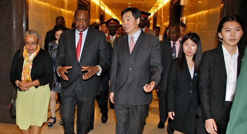 President Uhuru Kenyatta with First Lady Margaret Kenyatta during a past visit to China (twitter)