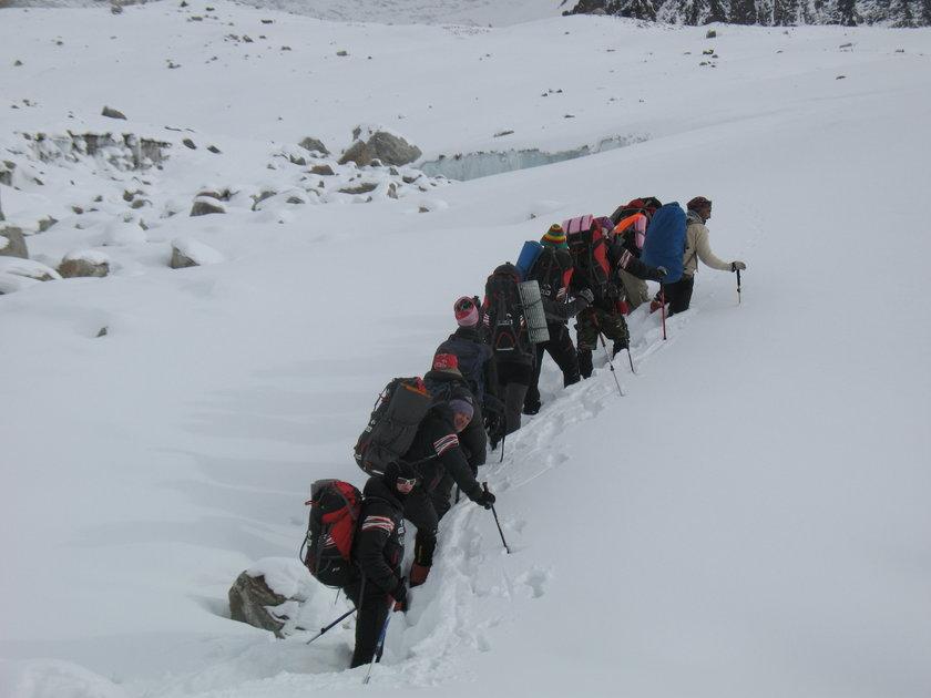 Wejście alpinistów