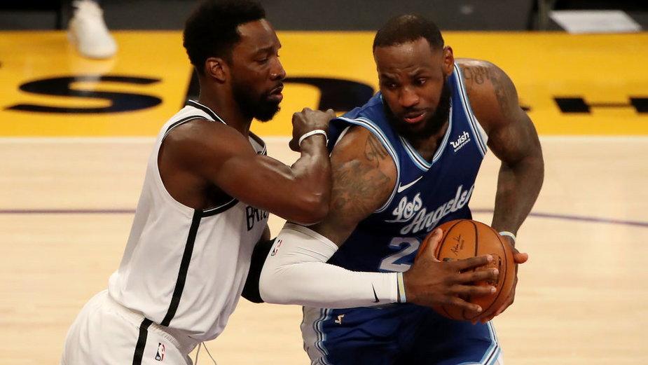 LeBron James z Los Angeles Lakers i Jeff Green z Brooklyn Nets, 18.02.2021 r.
