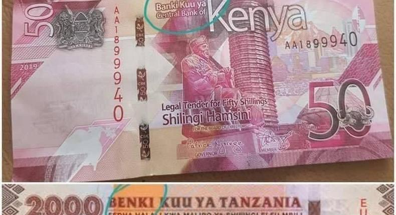 New Kenyan note juxtaposed with Tanzanian currency. CBK settles Banki and Benki debate once and for all