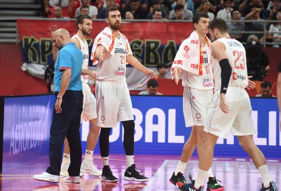 Košarkaška reprezentacija Srbije na poslednjem meču na SP protiv Češke
