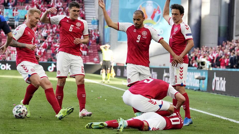 Christian Erkisen stracił przytomność w meczu Dania - Finlandia