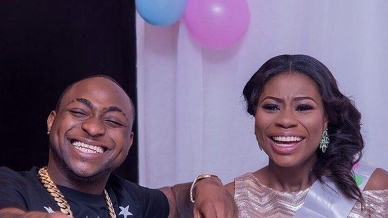 Davido and Sophia at her baby shower. Good times.