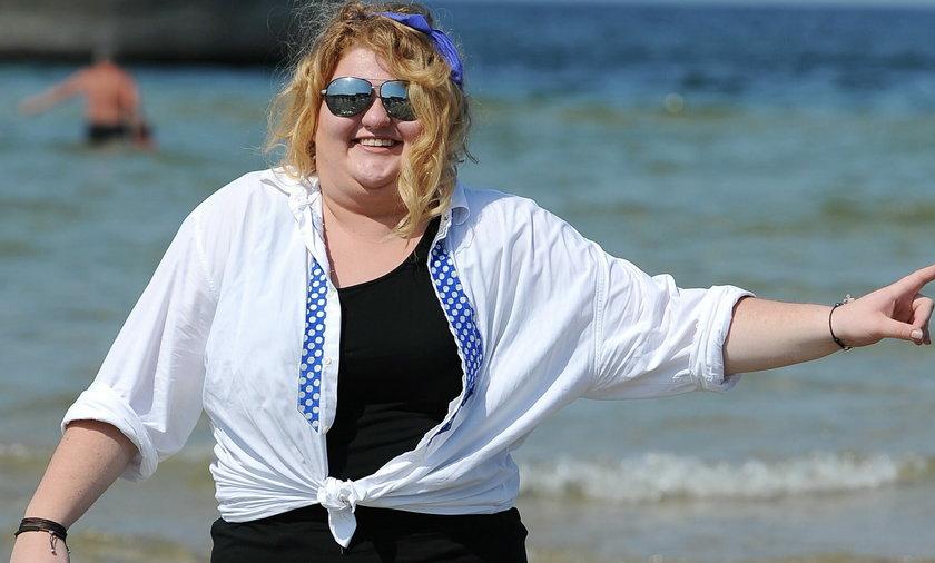Weronika Grycan w wodzie