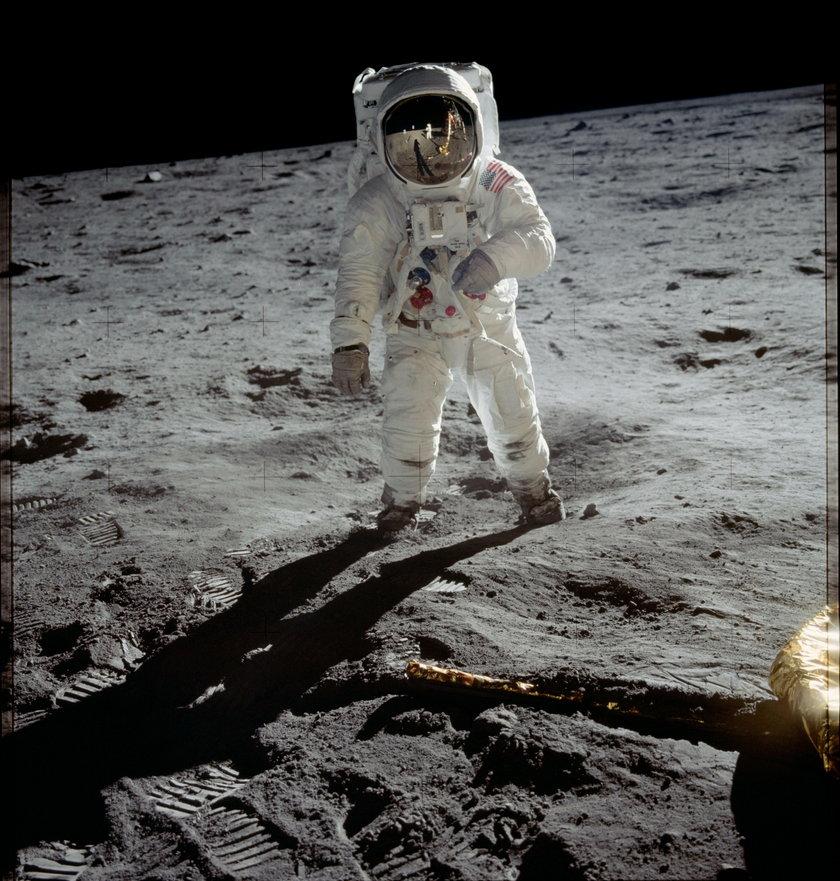 Buzz Aldrin na Księżycu