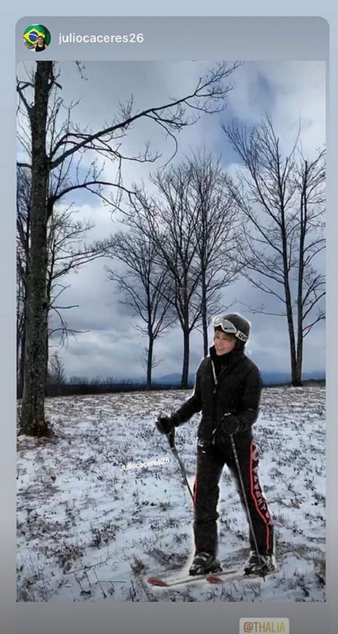 Talija na skijanju