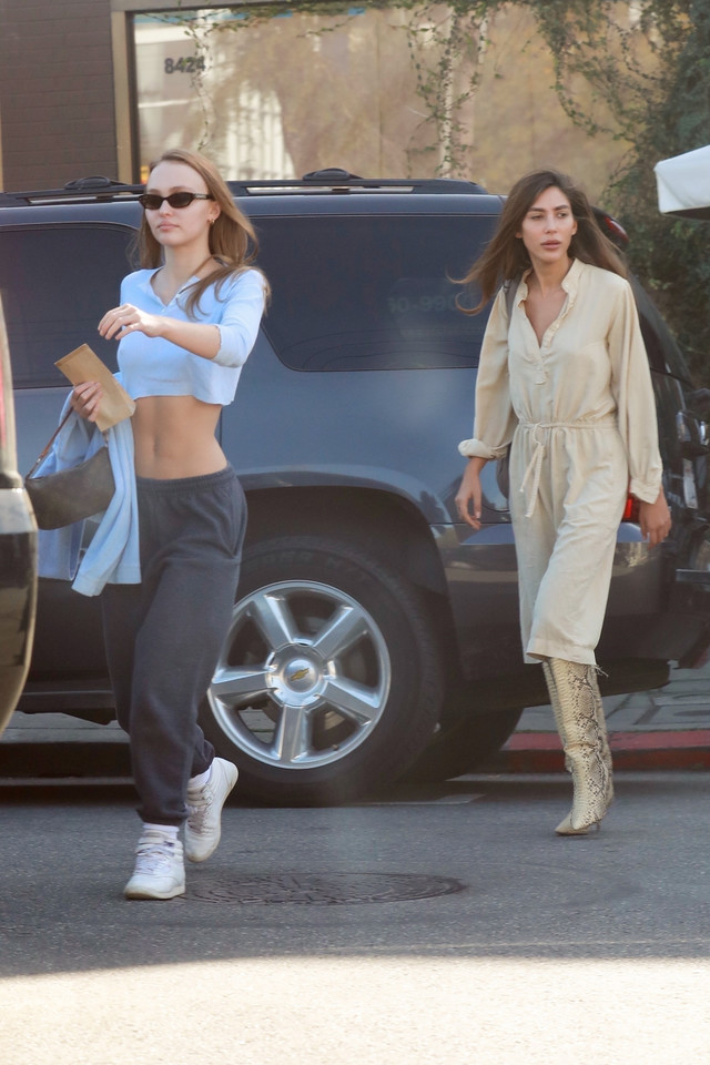Lily-Rose Depp na ulicy Hollywood