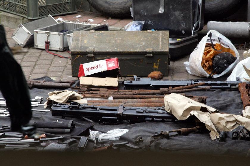 Broń znaleziona na miejscu zbrodni