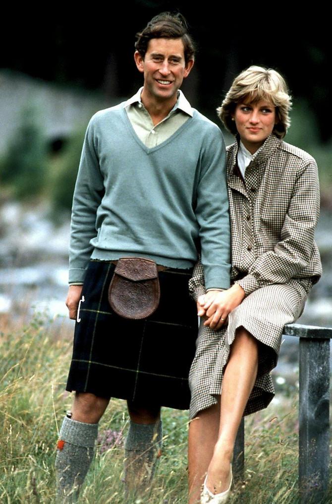 Dajana i Čarls početkom devedesetih u Londonu