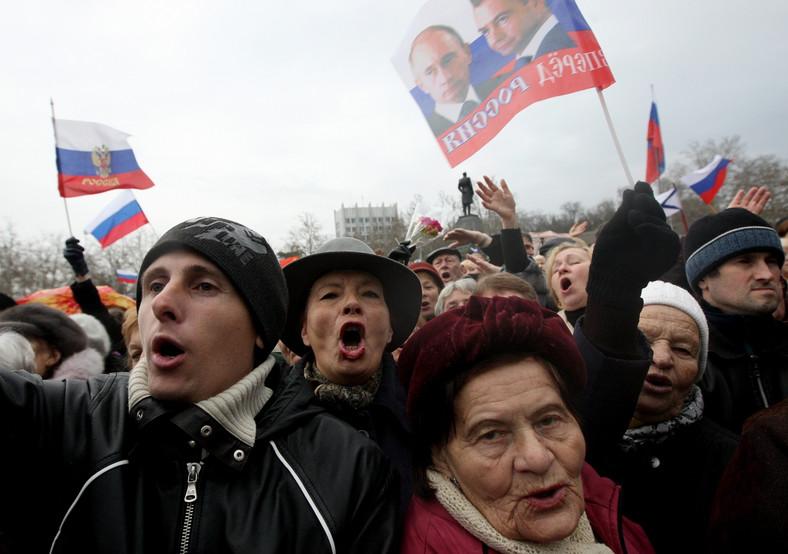 Prorosyjska demonstracja na Krymie