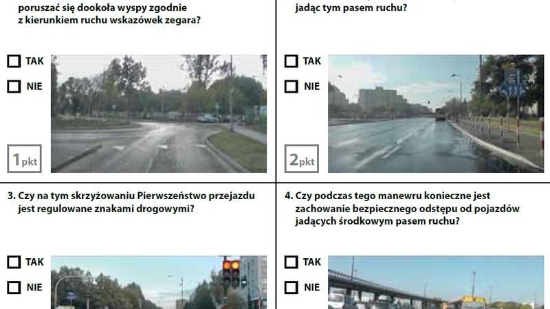 Egzamin teoretyczny na prawo jazdy - zestaw 1