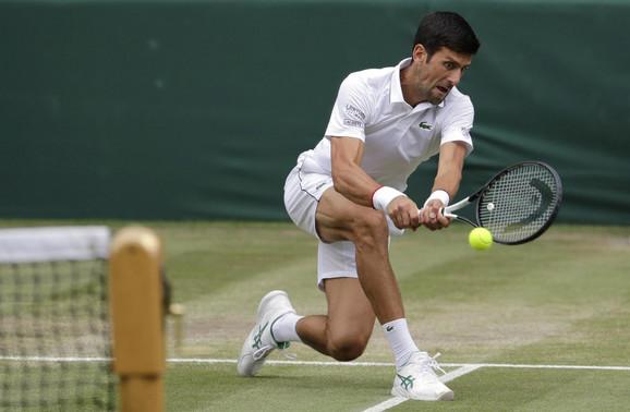Novak Đoković tokom vimbldonskog finala