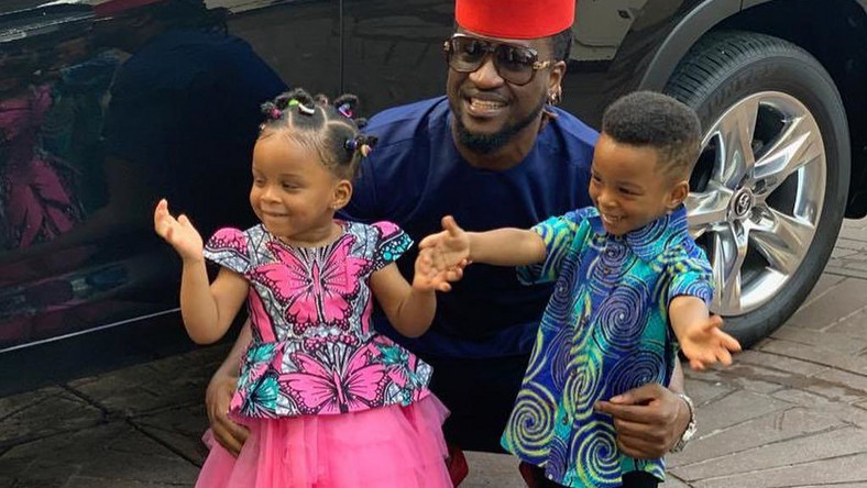 Image result for Paul Okoye's twins are 2