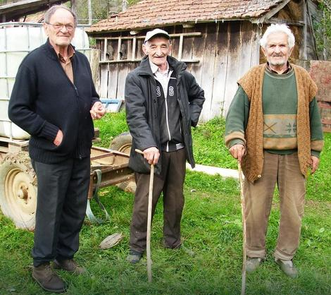 Dragoljub Mihaljčić, Milorad Galić i Miloš Petrović