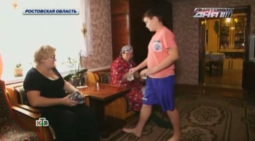 11-letni Giermana Bibikow poszedł do pracy