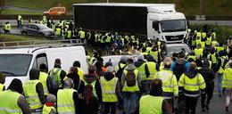 """""""Żółte kamizelki"""" zaatakowały polskie ciężarówki"""