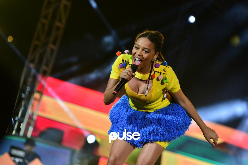 Sho Madjozi performing at Born In Africa Festival 2018