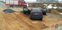 W wykopie na budowie znaleźli auto. W środku ciało mężczyzny