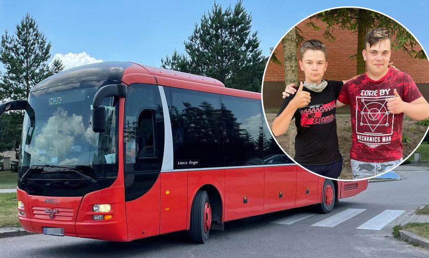 Chłopcy uratowali autobus pełny uczniów