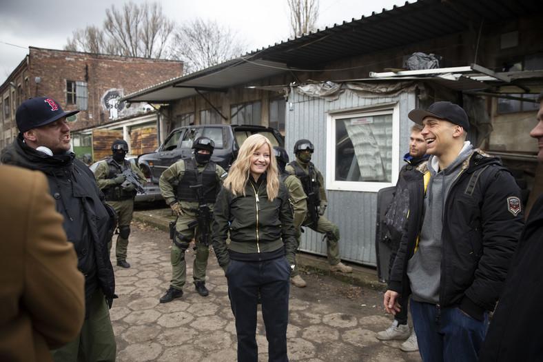 """Małgorzata Kożuchowska na planie filmu """"Proceder"""" fot. Tomasz Ozdoba - Global Studio"""