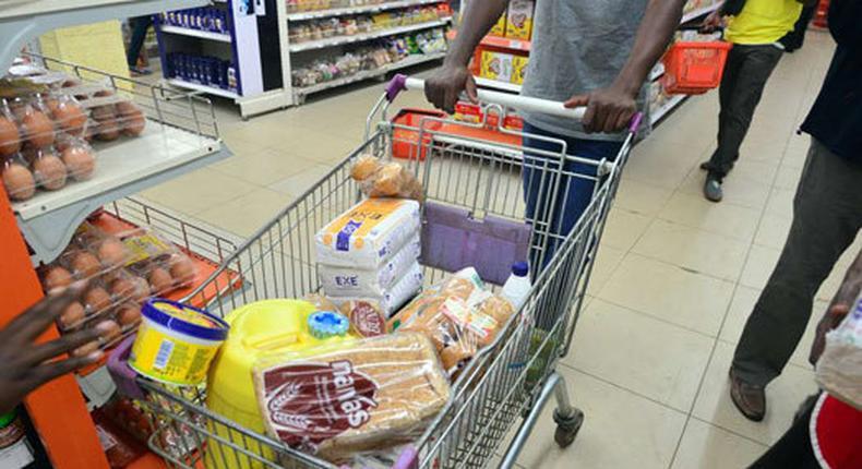 A shopper  in Kenya.