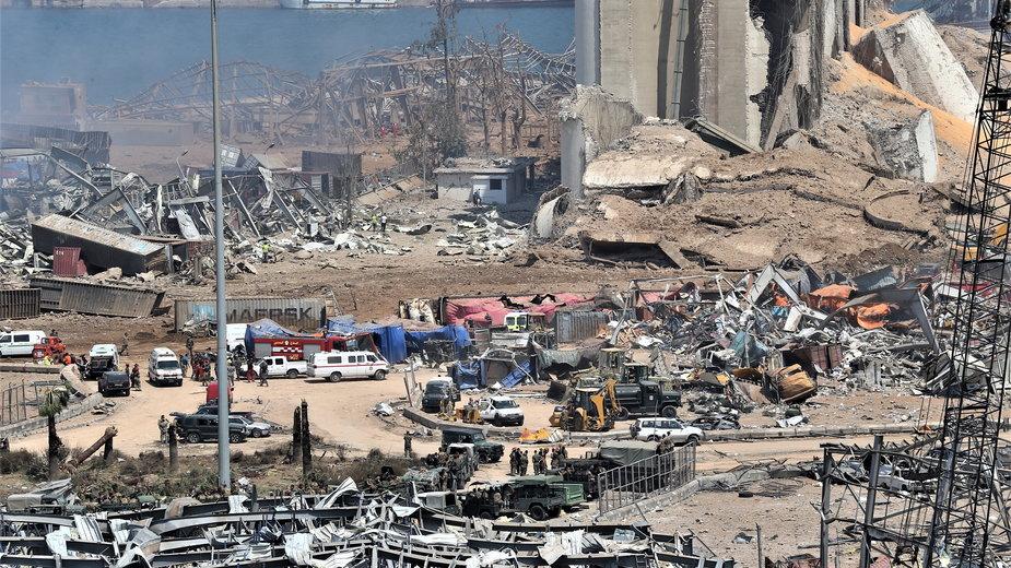 Wybuch w Bejrucie. Krajobraz po zniszczeniu