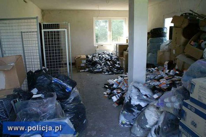 CBŚ zlikwidowało fabrykę podrabianych skarpet