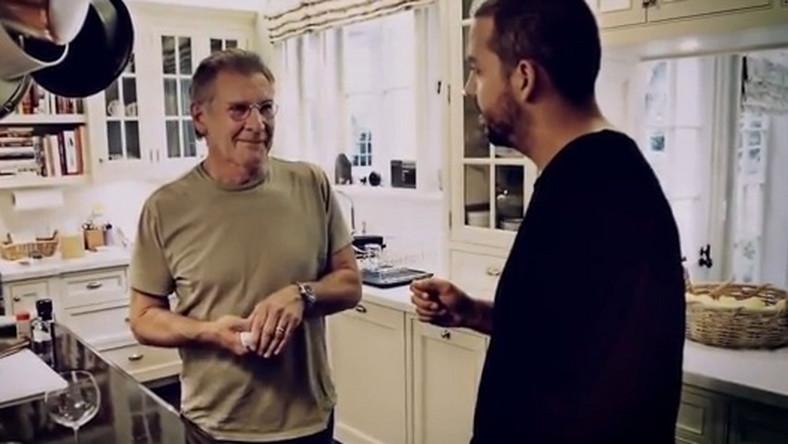 Harrison Ford reaguje na magiczną sztuczkę