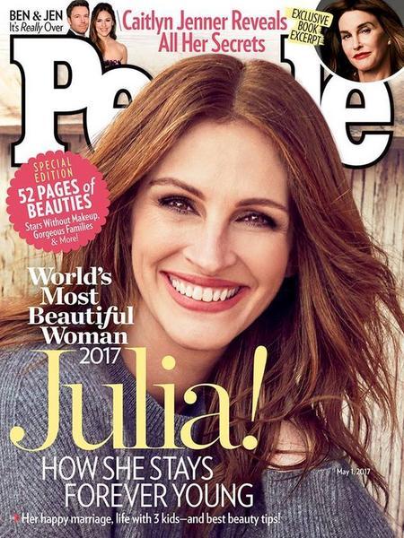 "Julia Roberts na okładce magazynu ""People"""