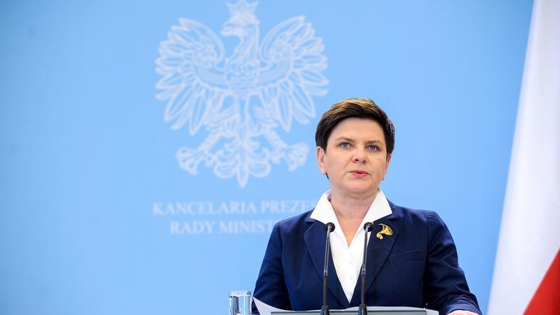 Beata Szydło na konferencji po posiedzeniu rządu