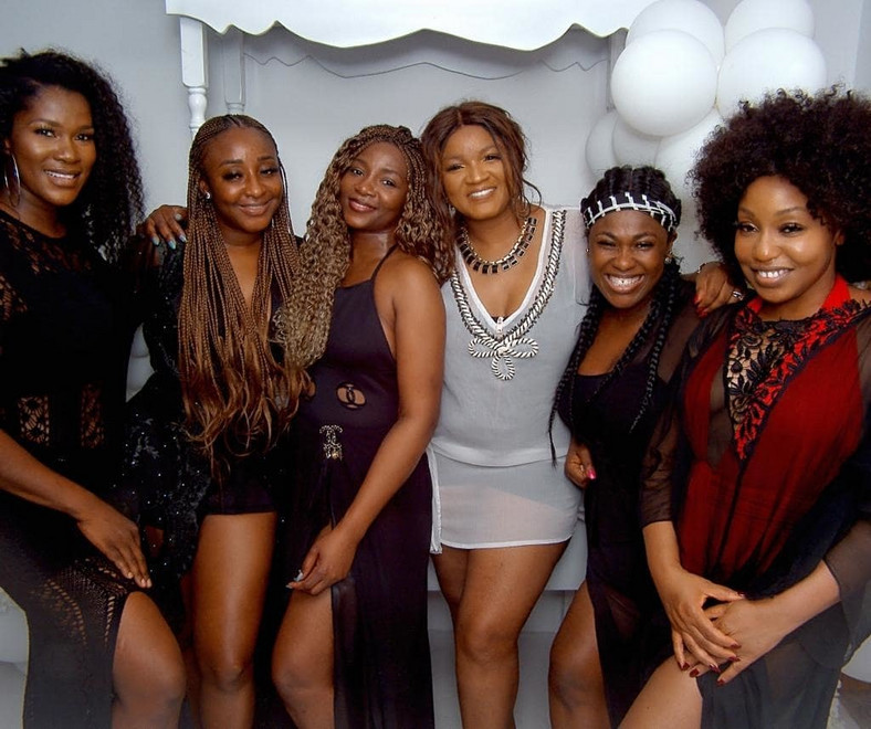 When you have Ini Edo, Genevieve Nnaji, Omotola Jalade-Ekeinde, Uche Jombo, Rita Dominic and Stephenie Linus in one photo, then you know its a sign of good luck.