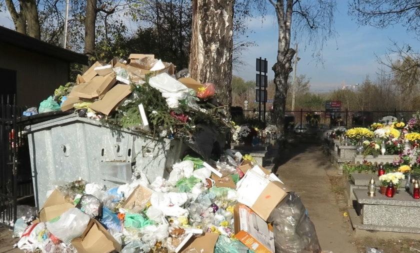 Śmieci na cmentarzach