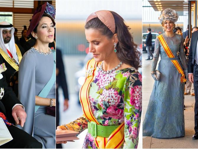 ZLATO, SVILA I KADIFA: Japanski car preuzeo tron, a zvanice plave krvi u raskošnim haljinama izgledale kao da su ISPALE IZ BAJKE