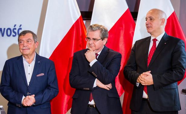 Brudziński i inni parlamentarzyści PiS z regionu wystąpili na konferencji z Bartłomiejem Sochańskim, który jest kandydatem Zjednoczonej Prawicy w drugiej turze wyborów na prezydenta Szczecina.
