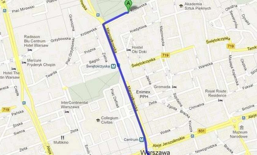 trasa mapy google