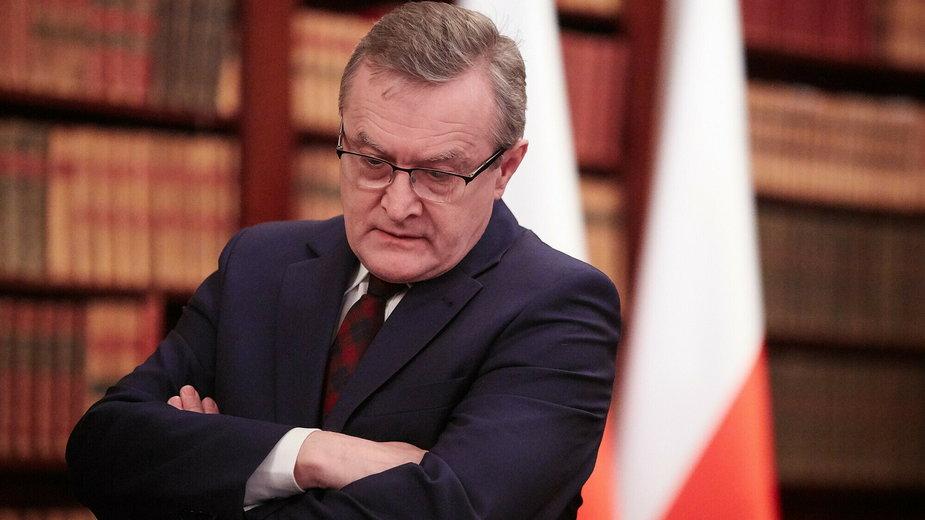 Piotr Gliński w Bibliotece Narodowej (2018)