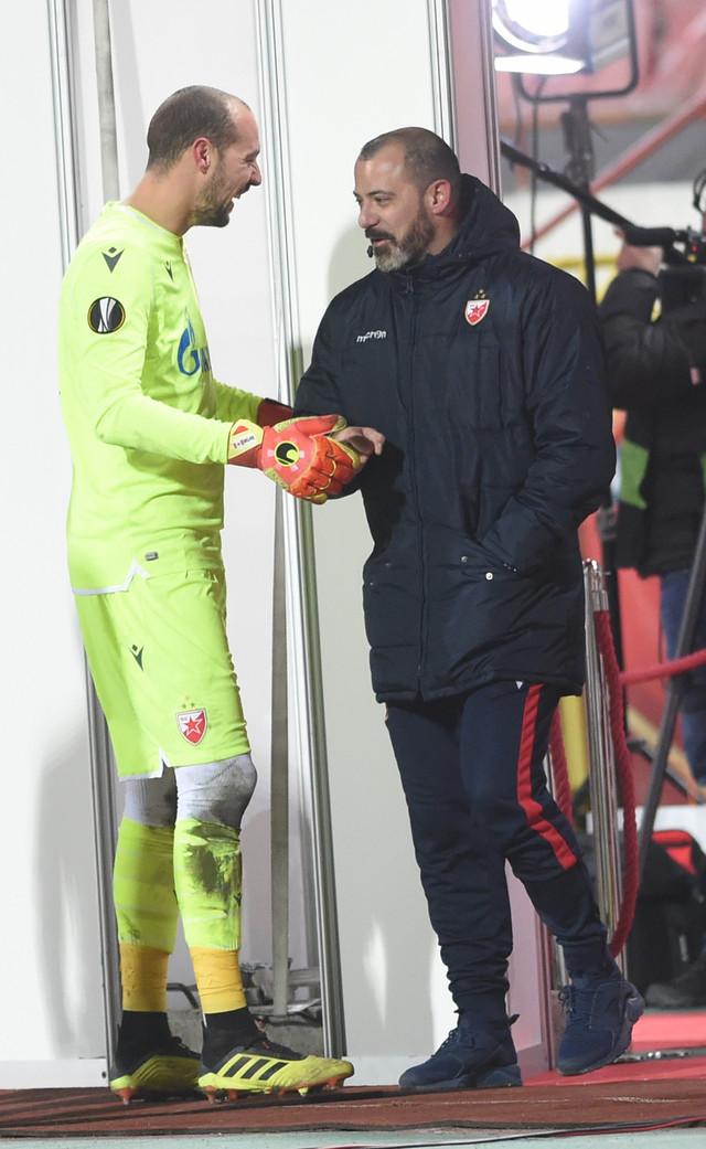 Milan Borjan i Dejan Stanković posle meča Lige Evrope Crvena zvezda - Hofenhajm