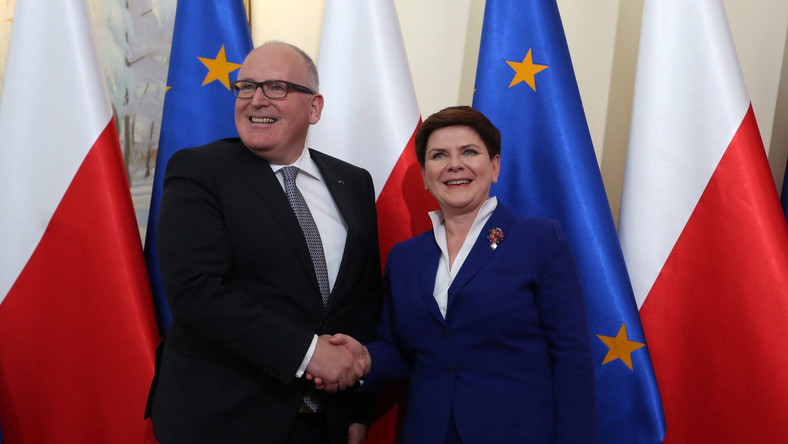 Frans Timmermans i Beata Szydło