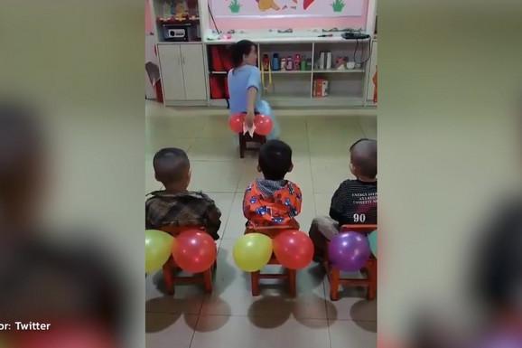 BALONE NEĆE NIKADA GLEDATI ISTIM OČIMA Kinezi u vrtiću uče decu nečemu VRLO VAŽNOM, a kod nas ni reči o tome (VIDEO)