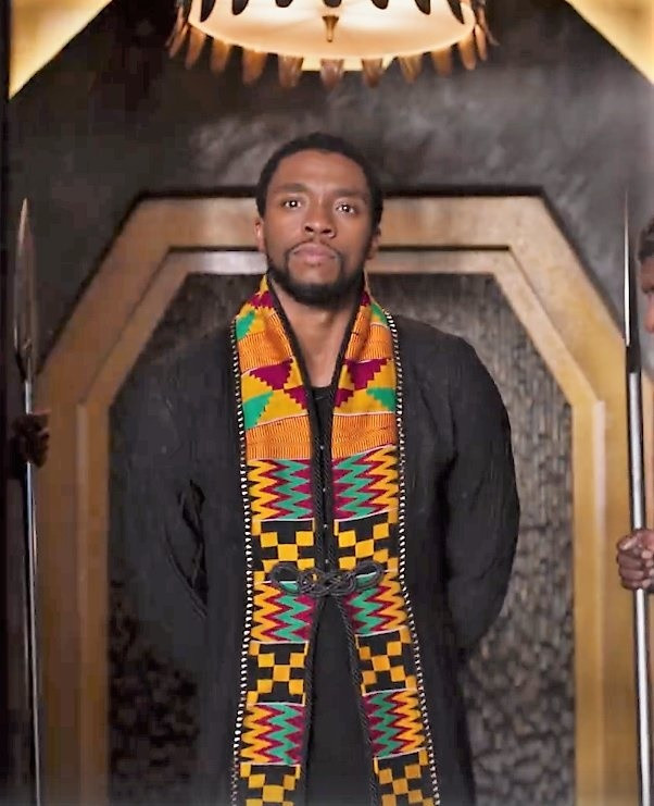 black panter using kente