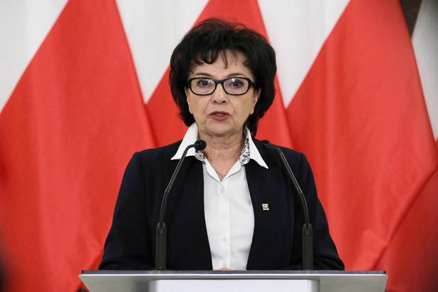 Marszałek Sejmu Elżbieta Witek z PiS anulowała głosowanie, po czym przeprowadziła je ponownie