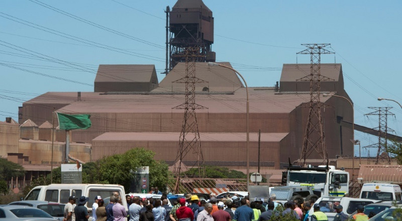 S.Africa workers protest plans to shut ArcelorMittal's plant