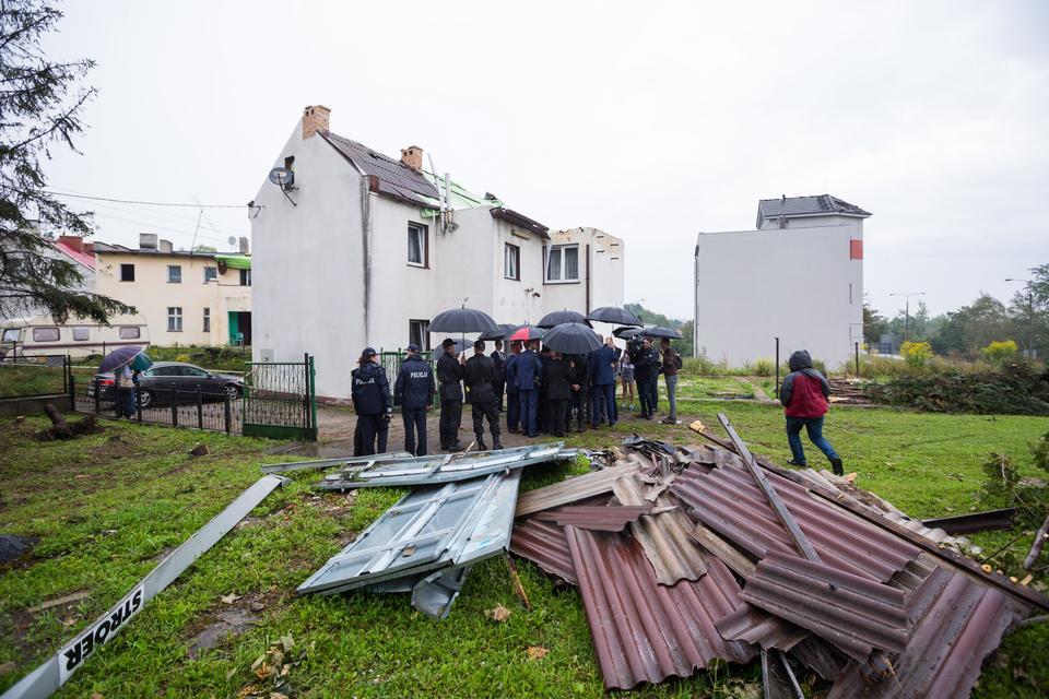 Zniszczony dom przy ul. Żabiej w Gnieźnie