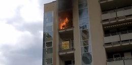 Pożar grilla na balkonie