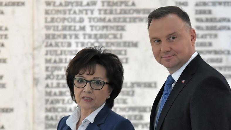 Elżbieta Witek i Andrzej Duda
