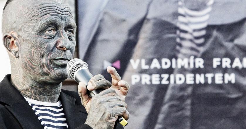 Vladimir Franz podczas kampanii wyborczej
