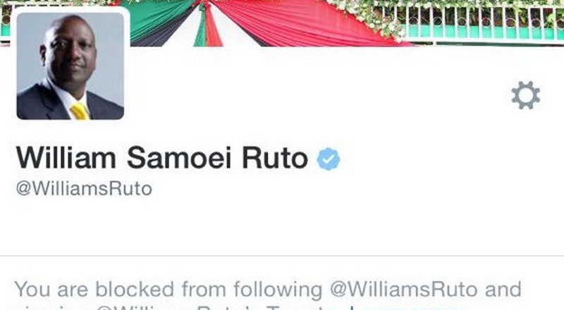 Why DP Ruto, Governors and MPs can be punished for blocking Kenyans on social media